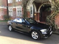 Top spec 1series convertible 120d -Black with cream leather interior