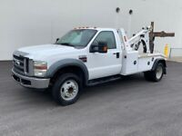 2008 FORD F550 WRECKER TOW TRUCK ONLY 77K MILES GOVERNMENT OWNED MAINTAINED