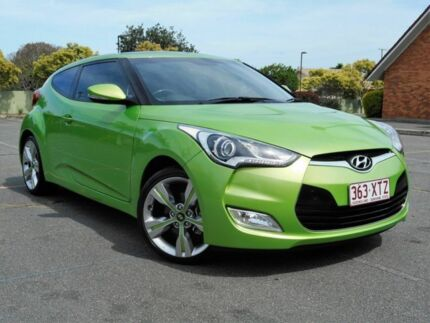 2014 Hyundai Veloster FS3 + Coupe Green 6 Speed Manual Hatchback Chermside Brisbane North East Preview
