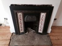Victorian Period Fireplace Hearth & Original Tiles