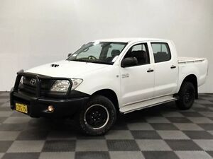 2011 Toyota Hilux KUN26R MY10 SR White 4 Speed Automatic Utility Edgewater Joondalup Area Preview