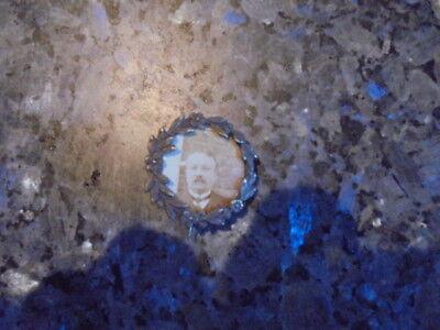 !!!!!!!!! superbe  petite broche ancienne  porte photo en argent