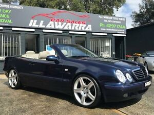 2000 Mercedes-Benz CLK320 A208 Sports Blue 5 Speed Automatic Cabriolet Barrack Heights Shellharbour Area Preview