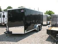 2016 7X16 V-Nose Enclosed Trailer with ramp door