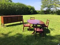 Gplan retro dining table chairs and sideboard