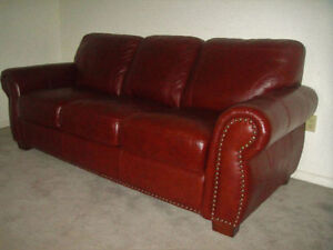 "Almost New ""Buffalo"" leather Sofa Set, Delivery Available"