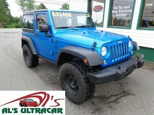 2015 Jeep Wrangler w/ Lift Kit & Two Tops only $227 bi-weekly!