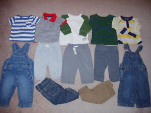 Baby Boy 12 Piece Clothing Lot, Size 6-12 Months