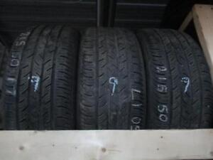 215/50R17 1 ONLY USED CONTINENTAL A/S TIRES