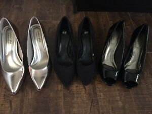3 pairs of high heels - buy together or separate - brand new!