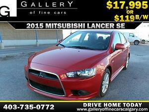 2015 Mitsubishi Lancer SE $119 bi-weekly APPLY NOW DRIVE NOW