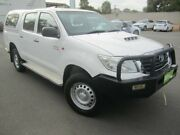 2015 Toyota Hilux KUN26R MY14 SR Double Cab Glacier White 5 Speed Manual Utility Melrose Park Mitcham Area Preview