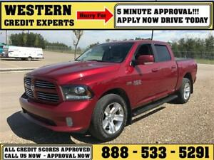2014 Ram 1500 Sport 4x4 LOADED ~ 5 Minute Approval $245 B/W