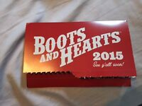 Boots & Hearts Tickets (Pair of 4 Day Admission WristBands) Watc