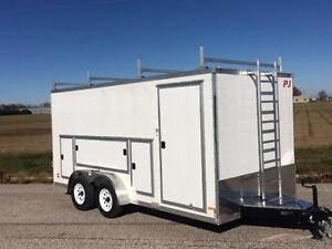 7ft x 16ft Enclosed Tool Box Trailer (RTBT7x16TA2)