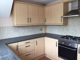 In Good condition used Maple Kitchen Units,including electric oven, and other appliances