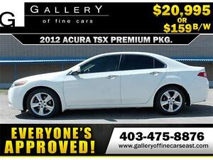 2012 Acura TSX Premium Pack $159 BI-WEEKLY APPLY NOW DRIVE NOW