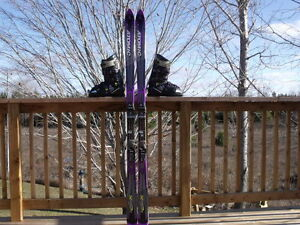 Atomic skis and Lange ski boots
