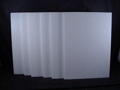 "6 pcs 1/4"" Corian  5"" x 7"" Glacier White"
