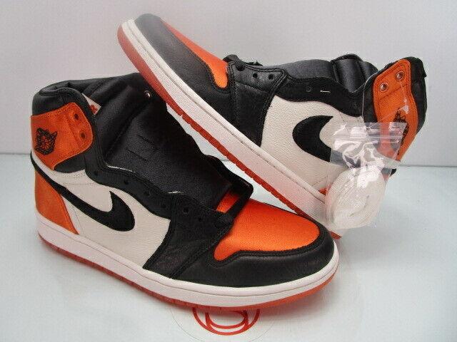 DS Nike Air Jordan I 1 Retro High Og SATIN SHATTERED BACKBOARD W10.5 M9