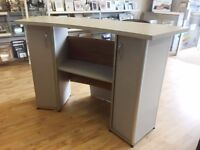 curved shop counters - grey - retail
