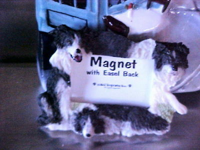 - border collie magnet picture frame  easel back  #27