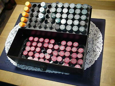 Delavan Oil Nozzels Redgreenblue With Oil Serviceman Metal Box Lot Of 79
