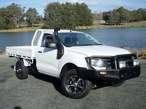 2012 Ford Ranger PX XL 2.2 (4x4) White 6 Speed Manual Cab Chassis Belconnen Belconnen Area Preview