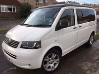 VW Campervan w. pop-up roof & reconditioned engine