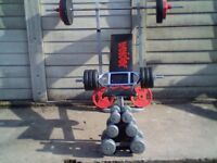 WEEKEND BARGAIN !! FREE DELIVERY***FREE DELIVERY**FREE DELIVERY**FREE DELIVERY**WEIGHTS SET**FREE !!