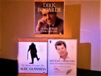AUTOBIOGRAPHY OF DIRK BOGARDE ALEC GUINNESS MICHAEL CRAWFORD AUDIO BOOKS PRERECORDED CASSETTE TAPES