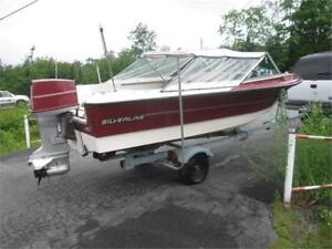 16 foot Silverline w/trailer & 70 hp outboard