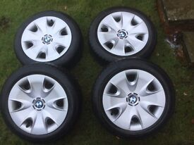 BMW One Series Genuine Winter Steel Wheels with Continental Winter Tyres