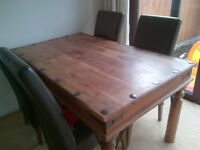 Furniture Village Table and Four Chairs