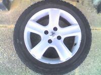 Peugeot 307 2002 16 inch Alloy Wheels , x4 set , 205/55R16 Tyres