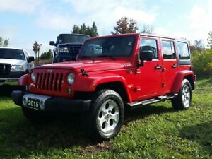 2015 Jeep Wrangler Unlimited SAHARA 4X4 with NAVIGATION