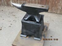 Anvil with rare original cast iron base