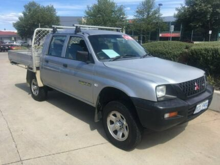 2003 Mitsubishi Triton MK MY04 GLX Double Cab 4x2 Silver 5 Speed Manual Utility Fyshwick South Canberra Preview