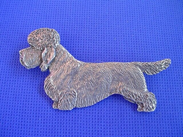 Dandie Dinmont Terrier Pin STANDING #92A  Pewter dog jewelry by Cindy A. Conter