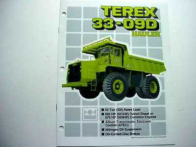 Terex Full Line 33-09d Truck Literature 2 Pieces