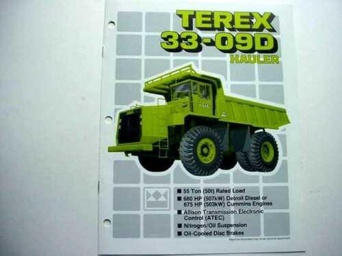 Terex Full Line & 33-09D Truck Literature (2 pieces)