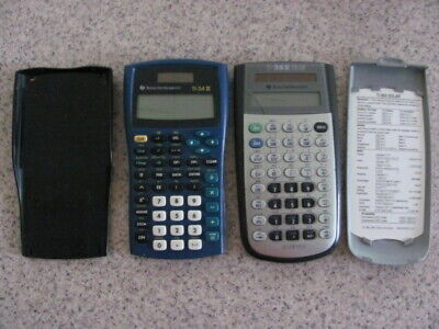 2- TEXAS INSTRUMENT CALCULATORS,TI-34 II, TI-36X SOLAR, USED,PERSONAL,FUNCTIONAL