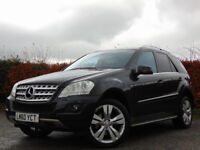 MERCEDES-BENZ M CLASS 3.0 ML350 CDI BLUEEFFICIENCY SPORT 5d AUTOMATIC (black) 2010