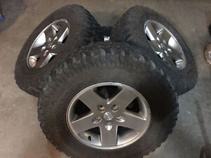 "Set of 5 - 17"" Wrangler Rims/Tires"