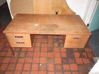 Vintage Pedestal desk.Size: H=72cm ,W=150cm ,D=76cm. Heavy, strong and stable