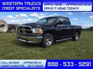 2012 Ram 1500 4x4 4.7L Flex Fuel ~ Tow Package ~ 5 Min Approval