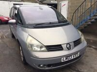 2003 Renault Grand Espace, starts and drives, being sold as spares or repair due to no MOT, car loca