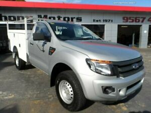 2012 Ford Ranger PX XL 3.2 (4x4) Silver 6 Speed Automatic Cab Chassis Rockdale Rockdale Area Preview
