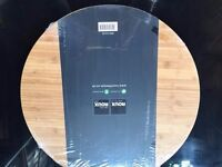 Michel Roux Jnr Thick Round Bamboo Chopping Board (40mm Thick) NEW