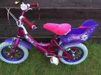 Girls Molly Bike Up to 5 Years Old with Stabilizers and Molly Bag